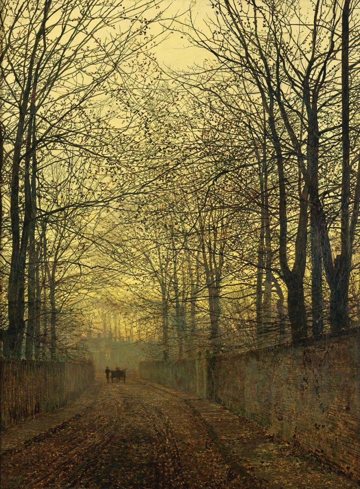 October Gold; John Atkinson Grimshaw,1885.