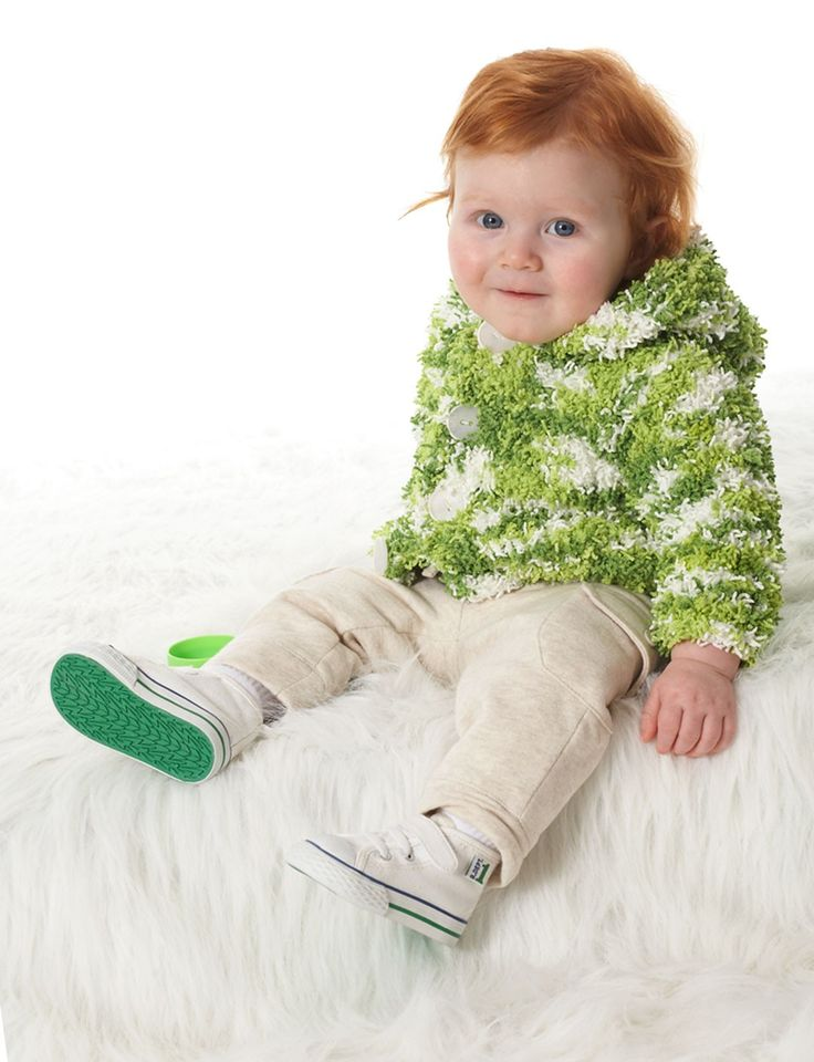 Yarnspirations.com - Bernat Baby Jacket - Patterns Yarnspirations Knit?Ba...
