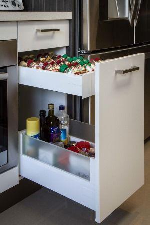 Internal drawer. Oil drawer. Spice drawer. www.thekitchendesigncentre.com.au