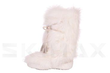 Diavolezza White fox Luxusni zimní boty z pravé kožešiny Diavolezza Luxury winter fur boots Diavolezza