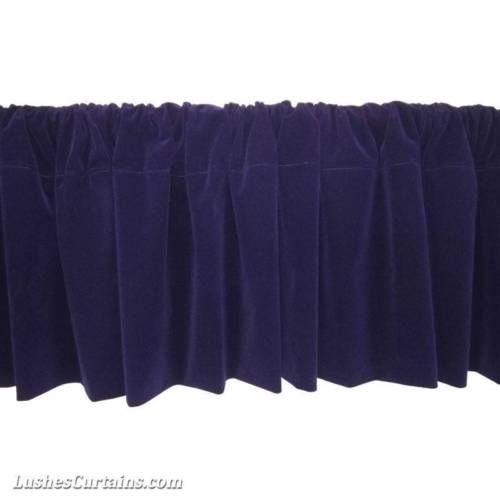 Window Treatments Purple Rod Pocket Curtain Topper Velvet Valance Panel Drapes Home & Garden:Window Treatments & Hardware:Curtains, Drapes & Valances