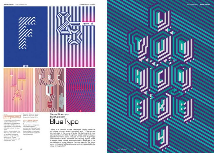 IdN Magazine Features Type and Lettering in Posters