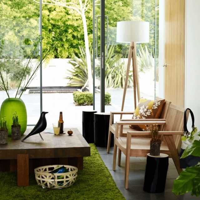 a grass rug in your living room