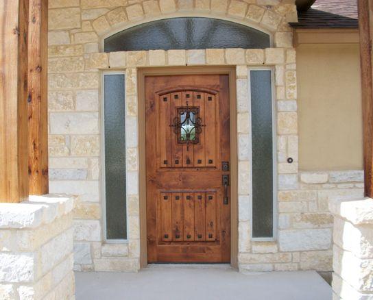 rustic wood doors knotty alder estancia door with vgrooves florentine speakeasy and clavos