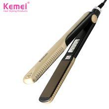 Kemei327 Novo alisadores de cabelo Cabeleireiro Profissional Portátil Cerâmica Alisador de Cabelo Irons Styling Tools Frete Grátis alishoppbrasil