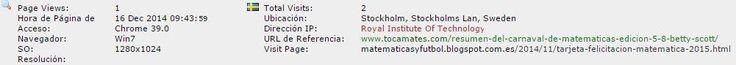 Royal Institute ot Technology. Stockholm, Stockholm Lan, Sweden  https://www.kth.se/en