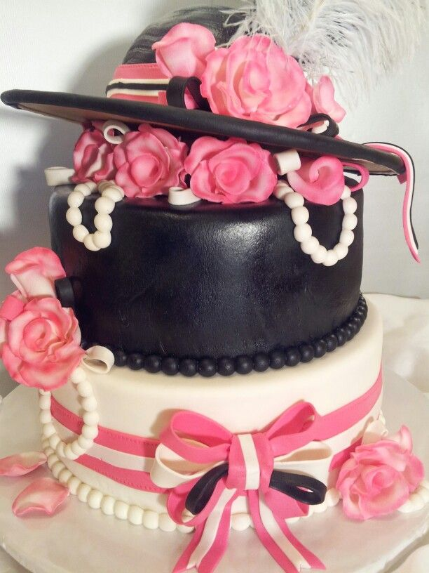 Kentucky Derby Themed Bridal Shower Cake By Myrna S Yummy Cakes