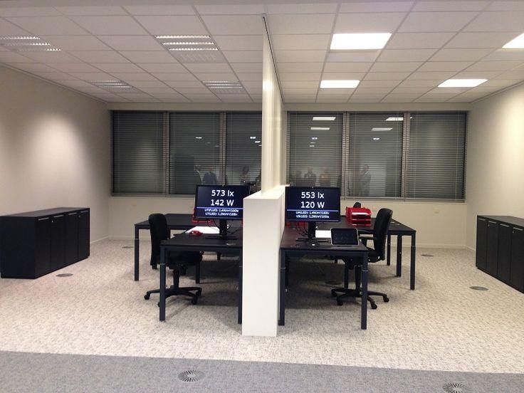 Voorbeeld van kantoorverlichting, bij ETAP