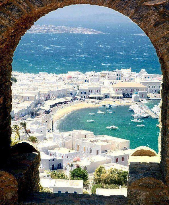 The Beautiful Harbour of Mykonos, Greece