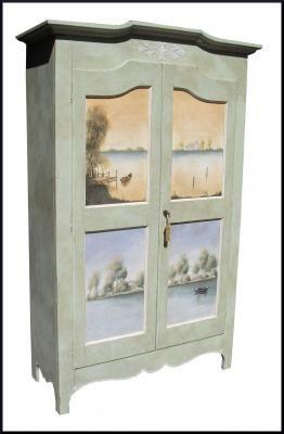 Produzione armadi mobili dipinti decorati laccati in stile provenzale veneziano tirolese 2