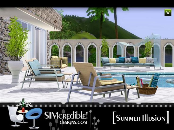 A set for your sims enjoy the summer time ^^ by SIMcredibledesigns.com  Found in TSR Category 'Sims 3 Garden Sets'