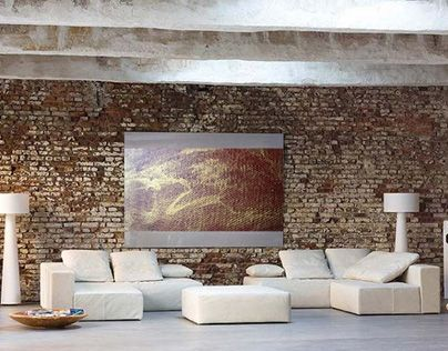 """Check out new work on my @Behance portfolio: """"The painting """"Gold"""" in loft interior."""" http://be.net/gallery/48621139/The-painting-Gold-in-loft-interior"""