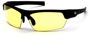 Venture Gear Tensaw Safety Glasses with Black Frame and Yellow Anti-Fog Lens