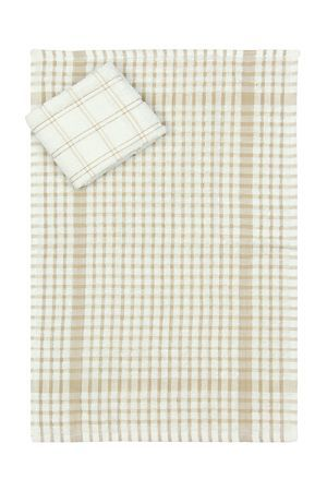 """Pack of 2 100% cotton tea towels with a distinct check design detail. A basic necessity for any kitchen.<div class=""""pdpDescContent""""><BR /><b class=""""pdpDesc"""">Dimensions:</b><BR />L65xW45 cm<BR /><BR /><b class=""""pdpDesc"""">Fabric Content:</b><BR />100% Cotton<BR /><BR /><b class=""""pdpDesc"""">Wash Care:</b><BR>Gentle cycle cold wash</div>"""