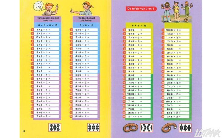 Maxi Loco boekje - Tafels 1 tot 10 (7-10 jaar) - Miniloco.be