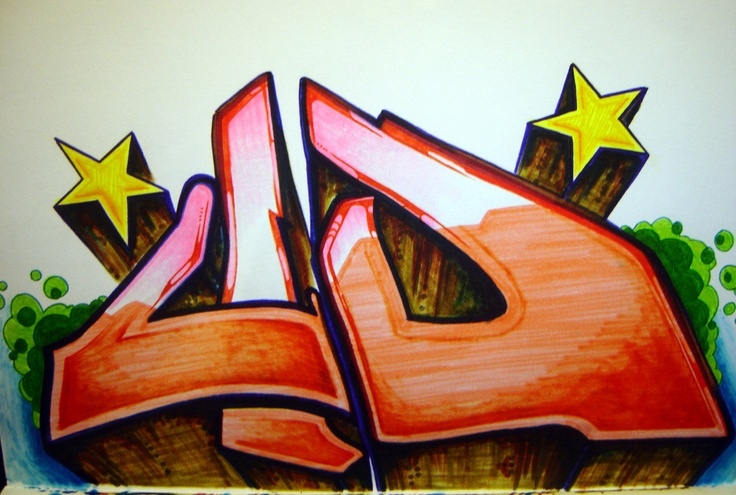 """Original marker pen artwork for my """"Noise in your stereo"""" EP from 2005.  adidick.tumblr.com"""
