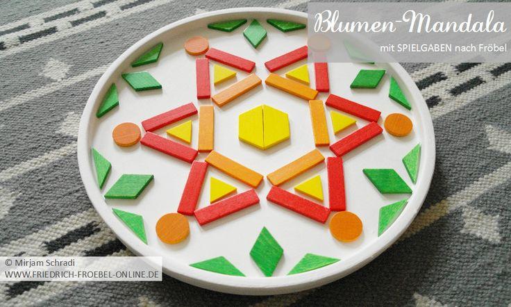 mandala mit geometrischen formen figuren legepl ttchen der spielgabe 7 spielgaben original. Black Bedroom Furniture Sets. Home Design Ideas