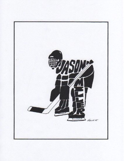 Personalized Sport  Figure  Hockey Goalie by rongenest on Etsy, $25.00
