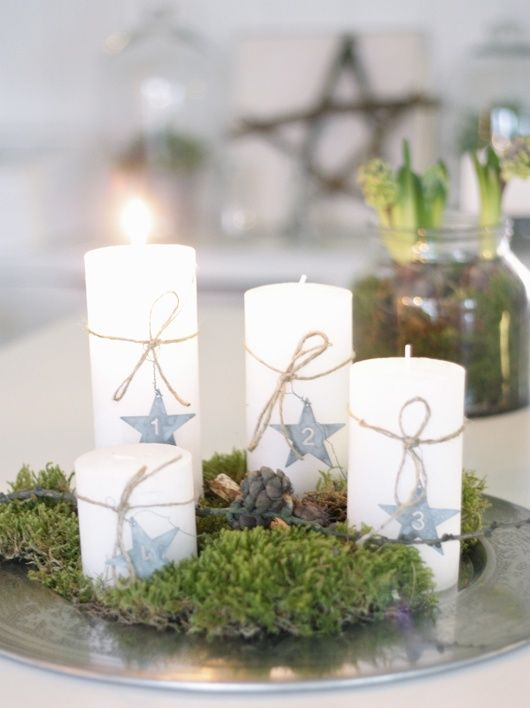 Love these for an Advent wreath: