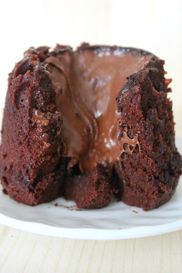 Nutella Lava Cake in a Cup | TheBestDessertRecipes.com