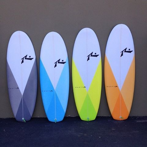 Here's the 1st batch of our newest addition to the family, the Muffin Top. You like?  #rustysurfboards #talktoyourshaper