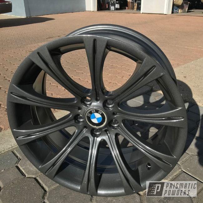 Prismatic Powders Black Powder Coated Bmw Wheels Powder Coating Custom Wheels Cars Bmw Wheels