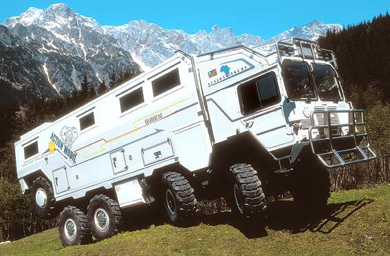 Unimog Camper | Or the ultimate go anywhere madness, a M.A.N. Kat 8X8 from Action ...