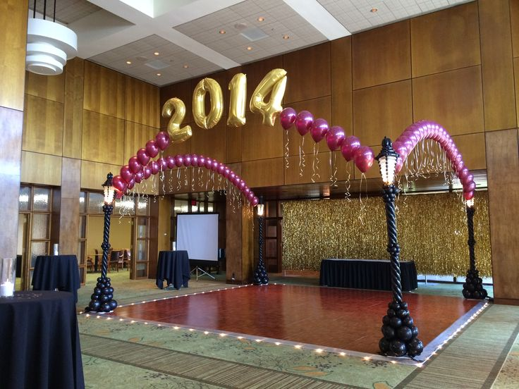 2014 new york new york roaring 20 39 s or great gatsby for Balloon dance floor decoration