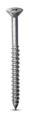 Simpson Strong Tie TTN25334PFSS 1/4-Inch by 3-3/4-Inch Grade 410 Titen Concrete and Masonry Screw with Phillips Head, Stainless Steel by Simpson Strong-Tie. $77.99. From the Manufacturer                Titen concrete and masonry screws are 3/16-inch and 1/4-inch diameter hardened screws for attaching all types of components to concrete and masonry.  Available in hex and phillips head designs in standard blue, white and 410 stainless steel.  Use with appropriately sized Titen dri...