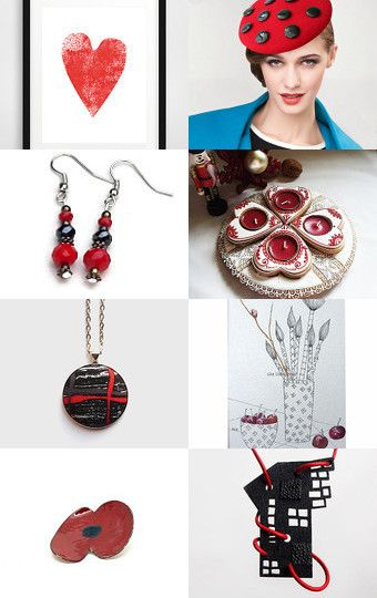 RED Treasury by Lotus Supplies on Etsy--Pinned with TreasuryPin.com