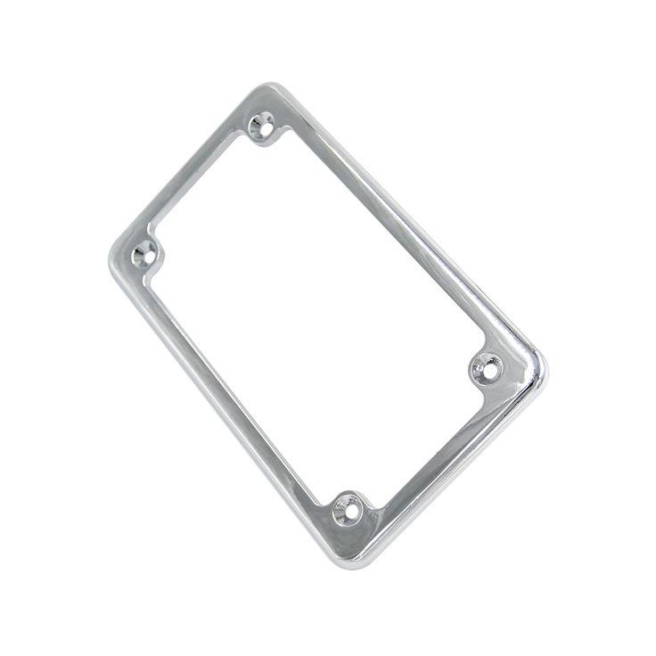 BJMOTO Universal 4'' X 7''Aluminum Motorcycle Number Plate Frame License Plate Frame Holder Framework for Harley Yamaha #Affiliate