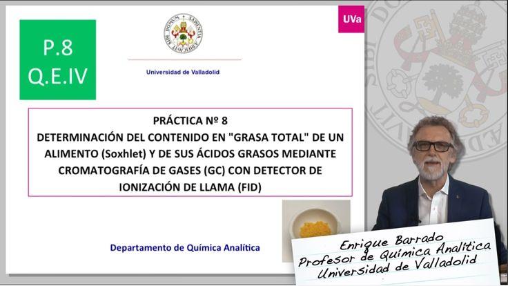 """DETERMINACIÓN DEL CONTENIDO EN """"GRASA TOTAL"""" DE UN ALIMENTO MEDIANTE CROMATOGRAFÍA DE GASES"""