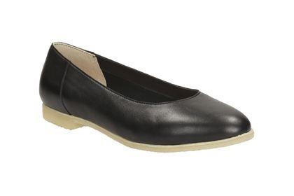 Clarks Ffion Ivy - Black Leather - Womens Originals Shoes | Clarks