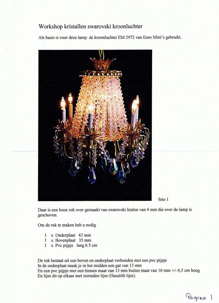 Workshop kristallen swarovski kroonluchter pagina 1