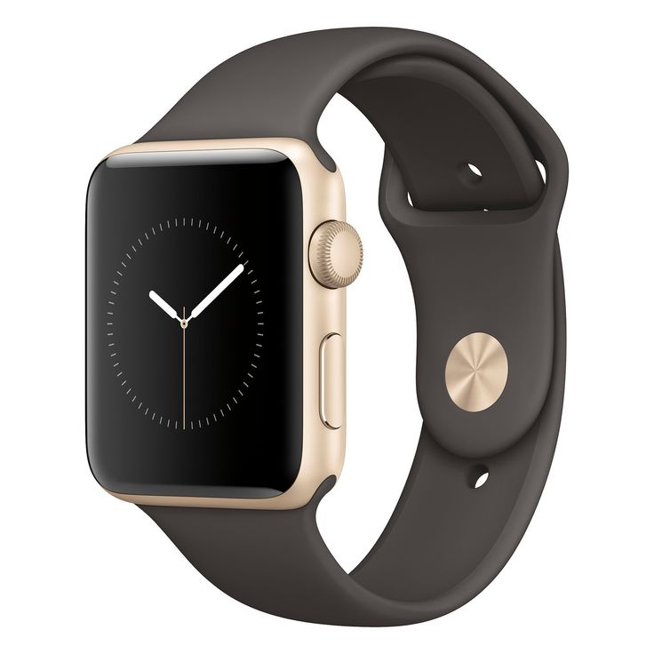 Apple Watch Series 2 42mm Gold Aluminum Case with Cocoa Sport Band, Size: 2XL