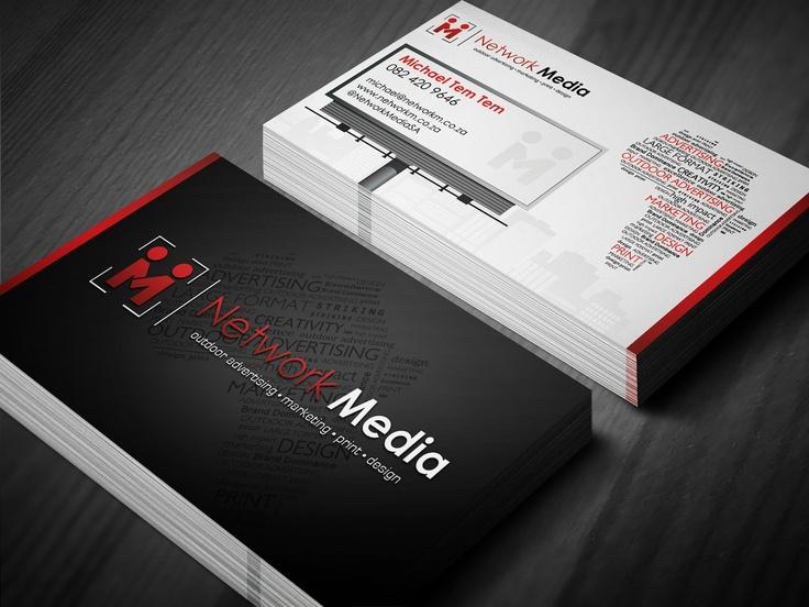 Network Media Business Card Design