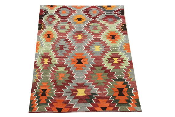 Traditional Turkish Kilim rugs 75 x 46 Feet by stripepattern