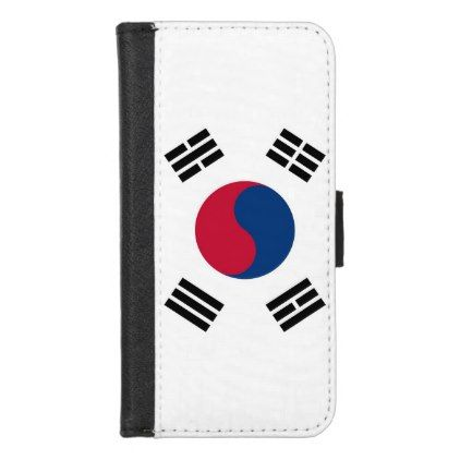 iPhone 7/8 Wallet Case with flag of South Korea - trendy gifts cool gift ideas customize