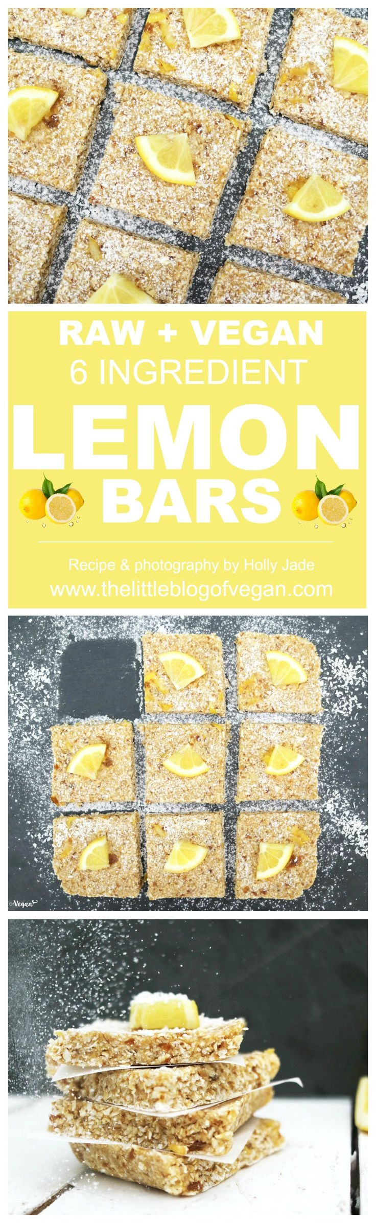 5-minute RAW, gluten-free vegan lemon oat bars, with a zesty kick! Packed full of goodness and delicious flavour! (Summer Bake Vegan)