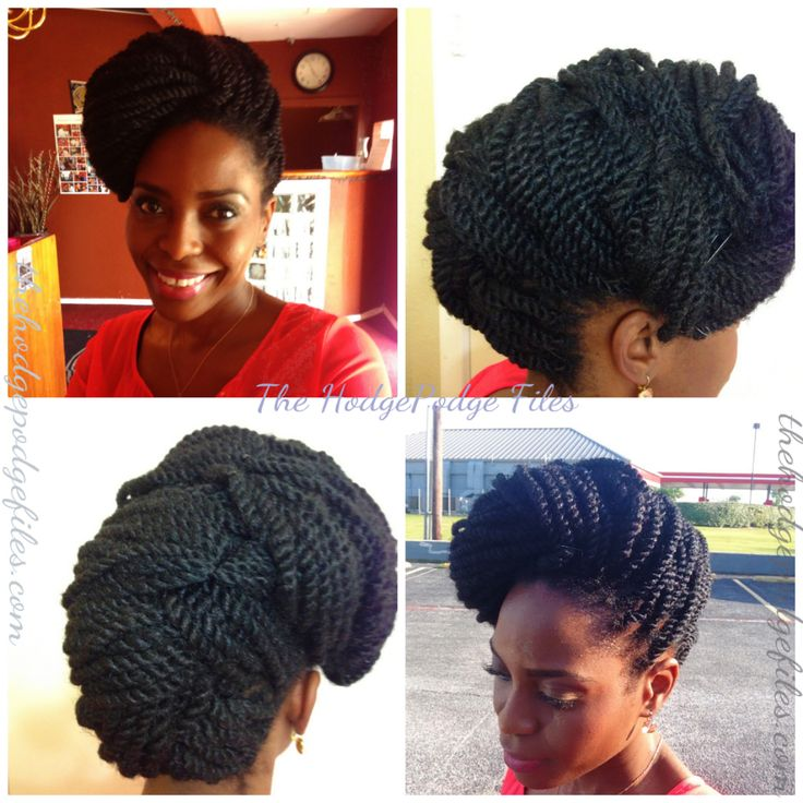 twist hairstyles | ... HodgePodge Files| A Natural Hair + Lifestyle Blog: Kinky Twists Updo