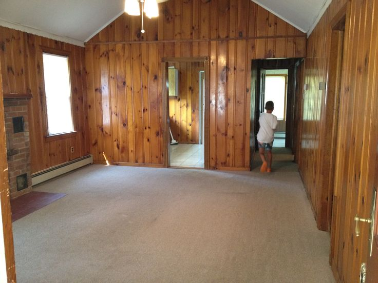 Before We Purchased Our Little Home By The Bay All Dark Knotty Pine Walls