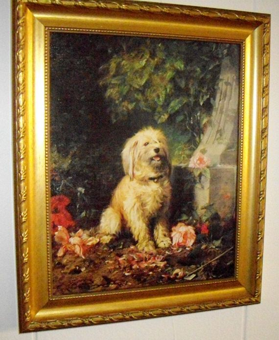 Listed artist, Eugene Lambert (aka Louis Eugene Lambert 1925-1900) acquired fame for his oil paintings of dogs and cats in the Victorian Era. Description from etsy.com. I searched for this on bing.com/images