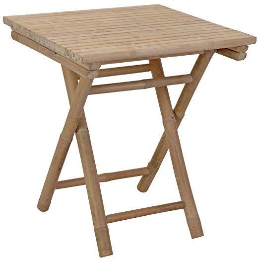 Trend Tisch Bambustisch Bambus Klapptisch Holz Gartentisch V