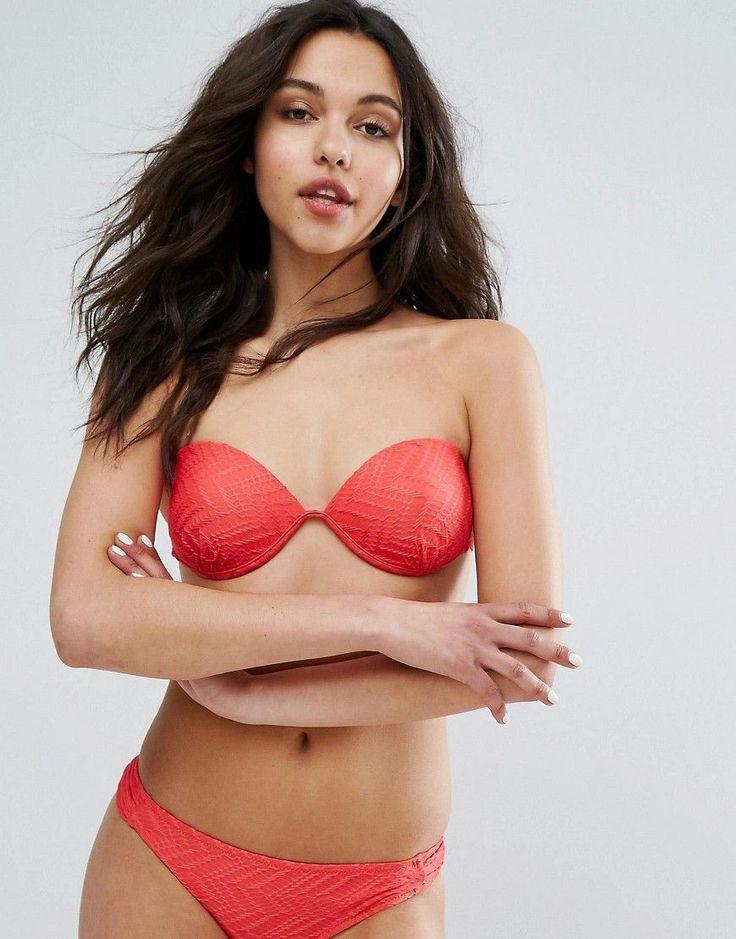 Vero Moda Geo-Tribal Bikini Top - Pink