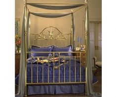 Metal Canopy Beds in Brass and Iron from Charles P. Rogers