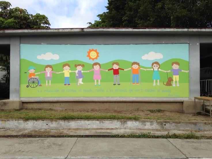 Murales para escuelas de niños con discapacidades