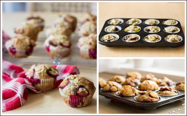 Švestkovo-makové muffiny