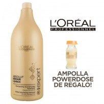 Shampoo Repair Lipidium Serie Expert Loreal Professionnel x 1500ml + Ampolla Repair Lipidum DE REGALO