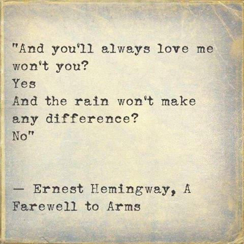 the theme of love in a farewell to arms by ernest hemingway A farewell to arms has 224,402  a farewell to arms, by ernest hemingway  there is so much to absolutely love about this novel hemingway paints the landscape.