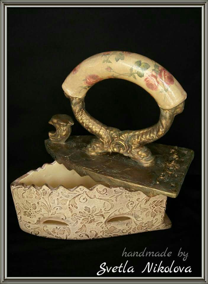 Ceramic box-iron. Handmade by Svetla Nikolova.